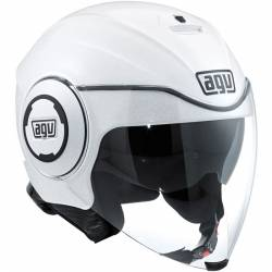 Casco AGV Fluid Solid pearl white