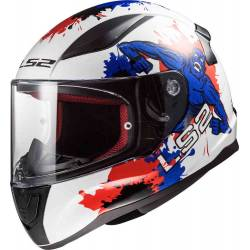 Casco LS2 FF353J Rapid Mini Monster White Blue