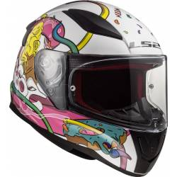 Casco LS2 FF353J Rapid Mini Crazy pop White pink