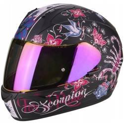 Casco Scorpion EXO-390 Chica Black matt/pink