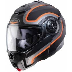 Caberg Droid pure matt black/antracite/orange